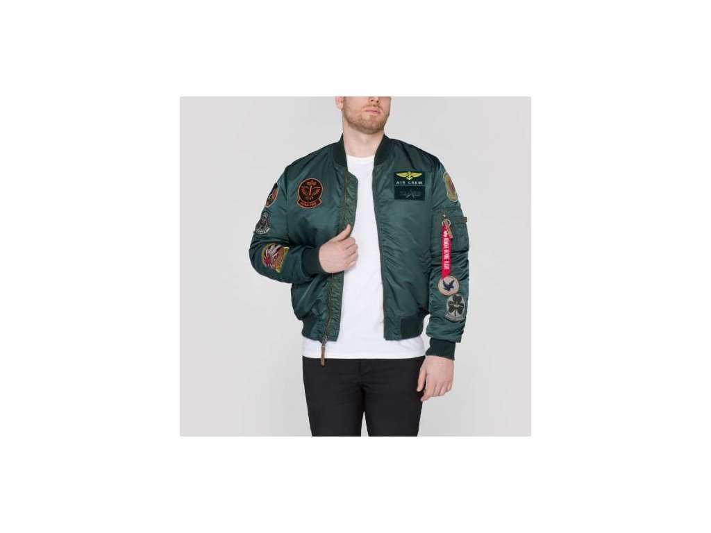 Alpha Industries MA-1 Pilot zimná bunda dark petrol