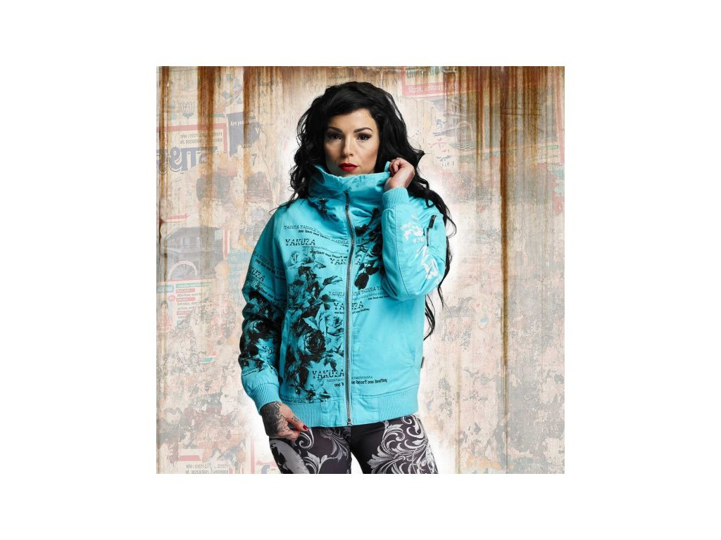 Yakuza HEAVY BOMBER WINTER JACKET dámska bunda GJB 10133 peacock blue