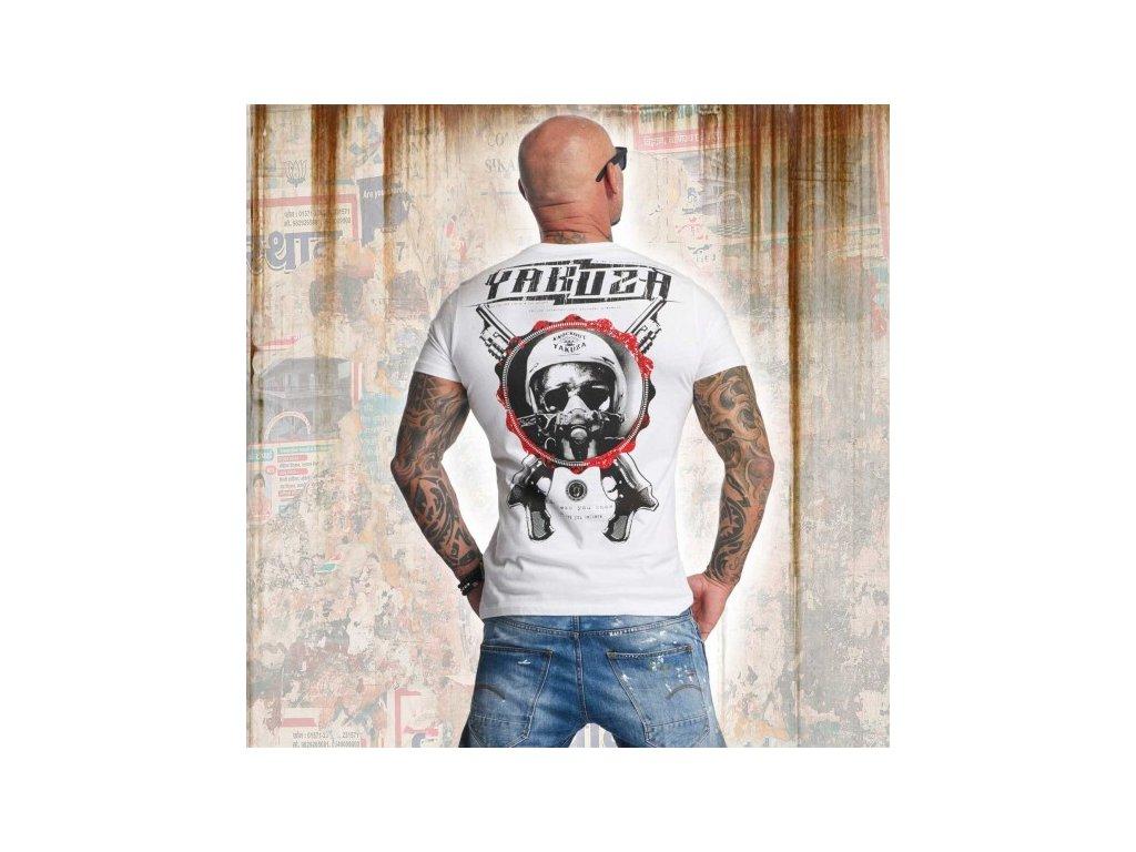 Yakuza tričko pánske HELMET SKULL TSB 11035 White