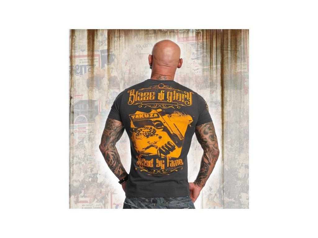 Yakuza tričko pánske BLAZED N GLORY TSB 11034 Ebony