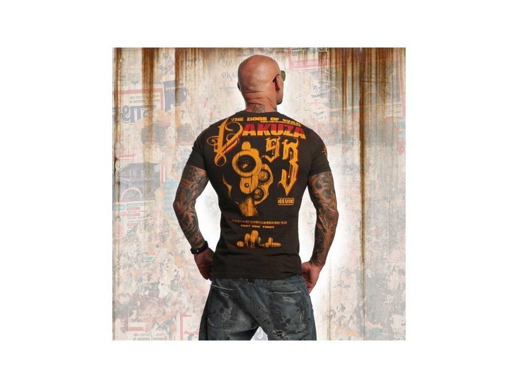 Yakuza tričko pánske HAVOC TSB 11037 coffee bean