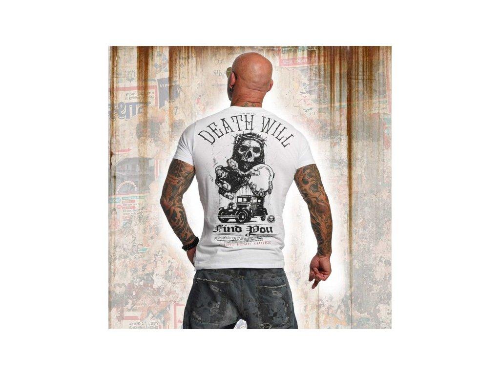 Yakuza tričko pánske DEAD WILL FIND YOU TSB 11050 white