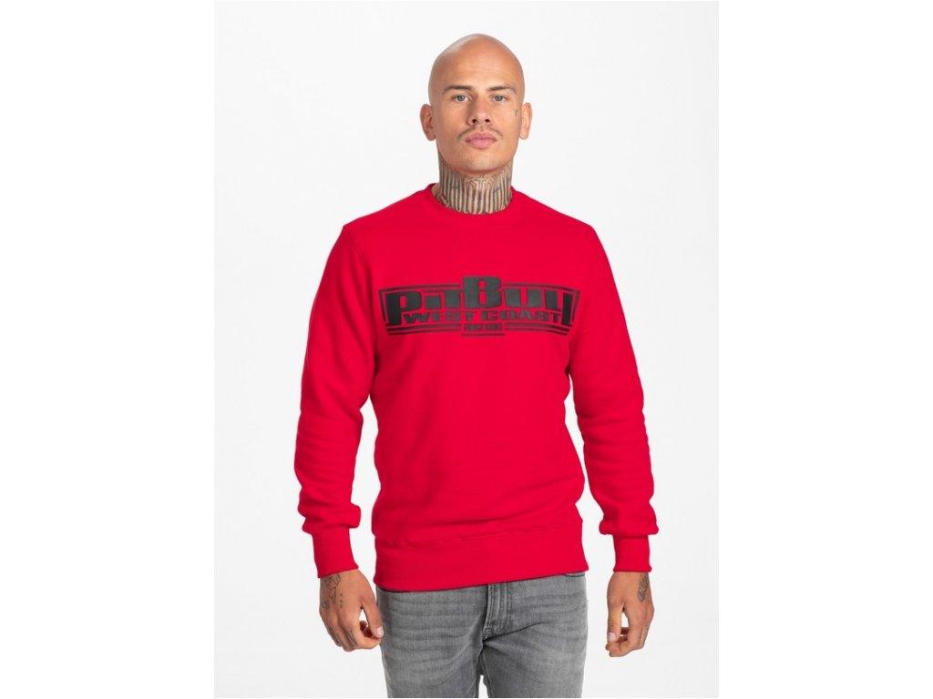 Pitbull West Coast mikina Classic Boxing red