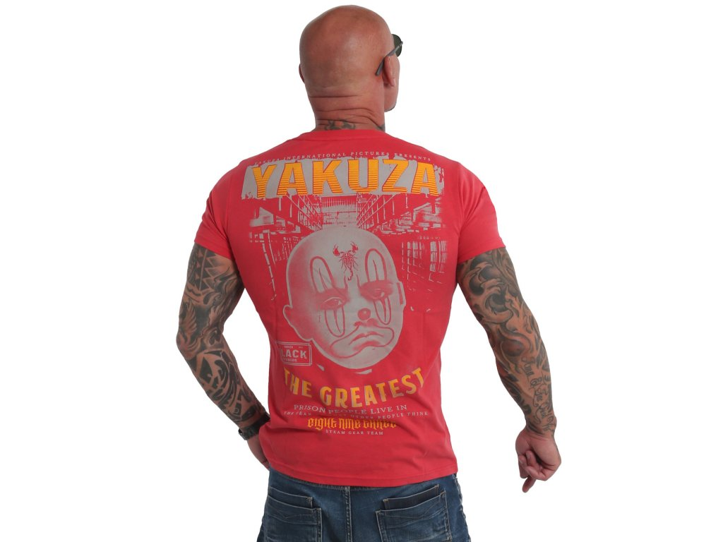 Yakuza tričko pánske The Greatest TSB 19033 ribbon red