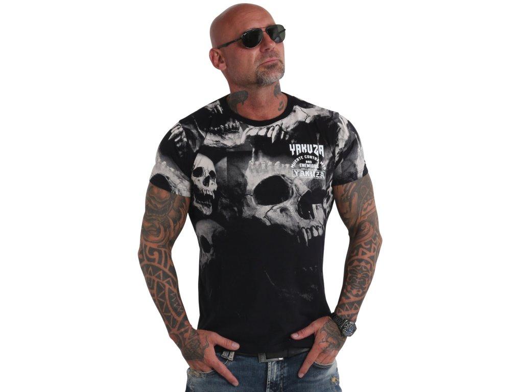 Yakuza tričko pánske MUERTE SKULL TSB 19055 black