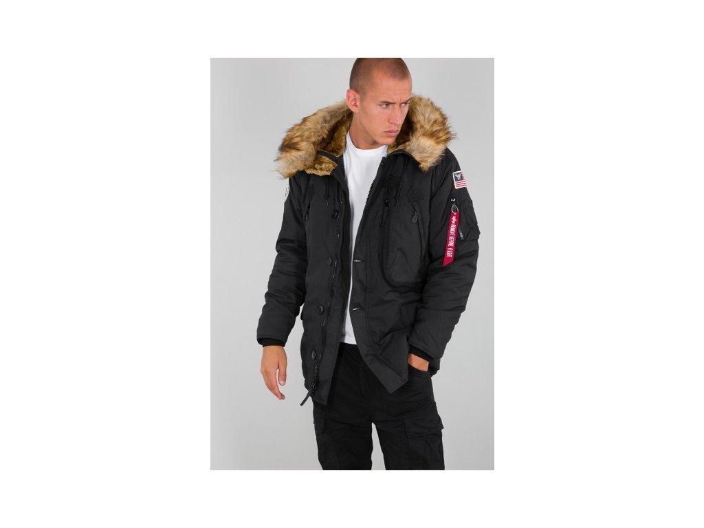 Alpha Industries Polar Jacket pánska zimná bunda black