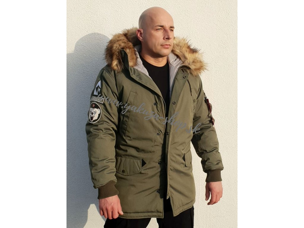 Alpha Industries zimná bunda ARCTIC DISCOVERER dark olive
