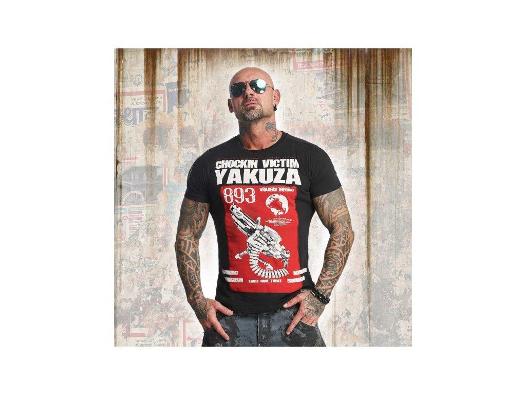 Yakuza tričko pánske CHOCKIN VICTIM TSB 11033 Black