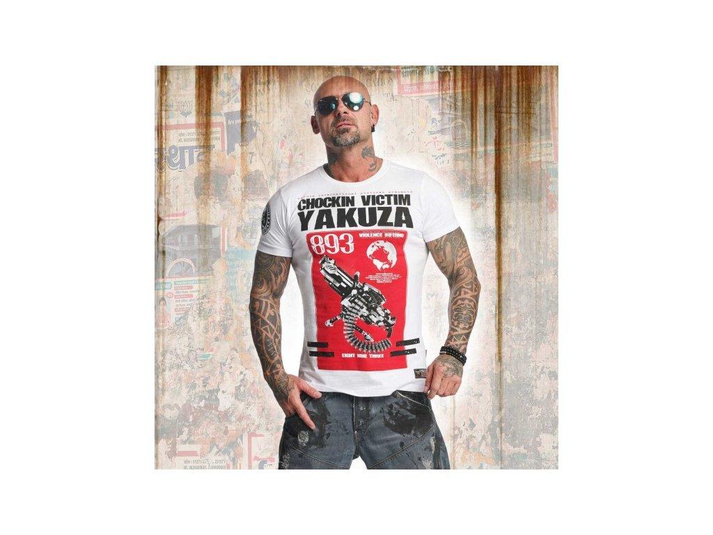 Yakuza tričko pánske CHOCKIN VICTIM TSB 11033 white