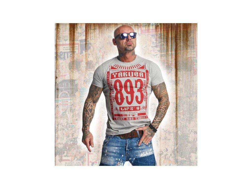 Yakuza tričko pánske LIFE TSB 11040 light grey