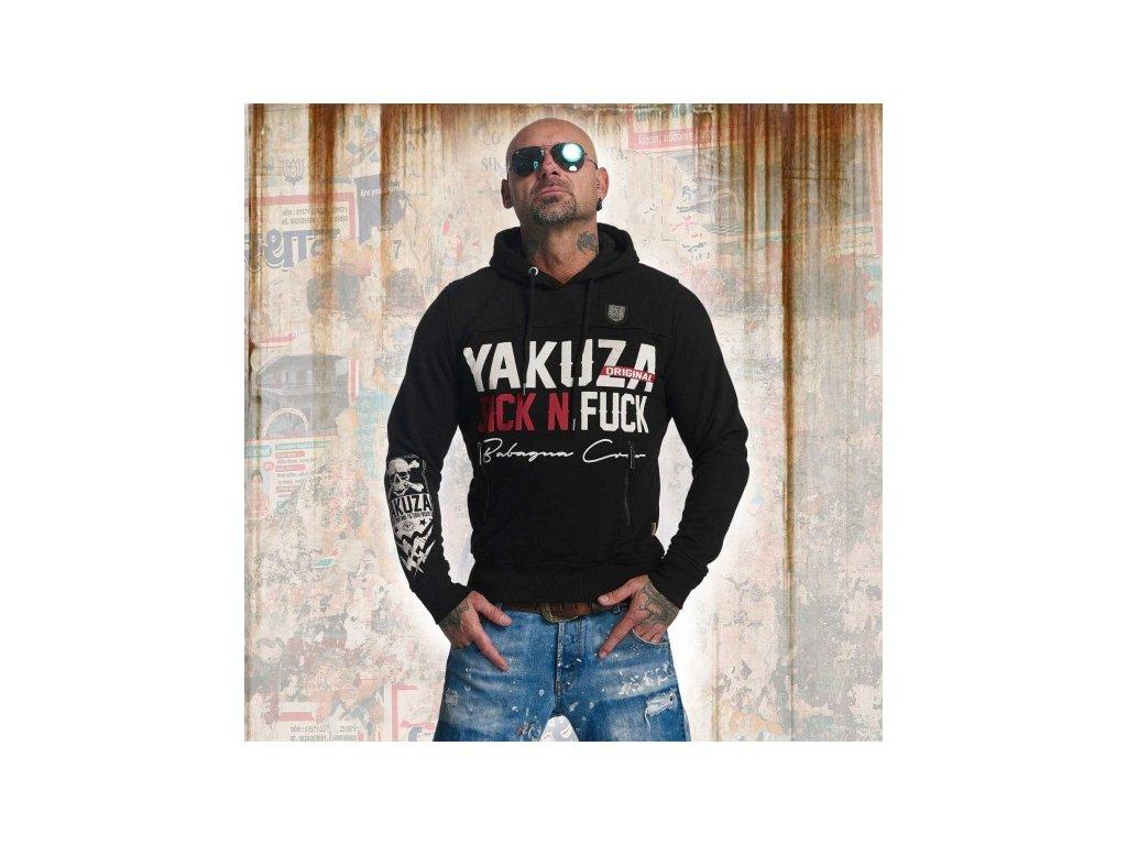 Yakuza SICK N FUCK mikina pánska HOB 11003 black
