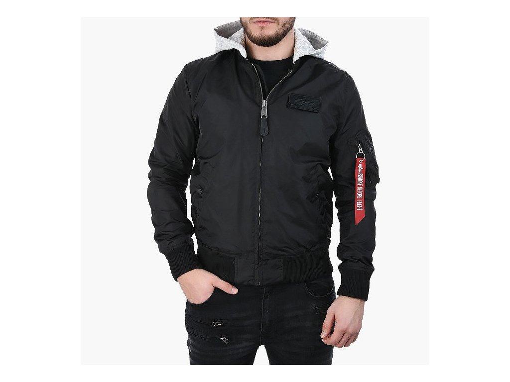 Alpha Industries MA 1 TT HOOD bunda pánska black
