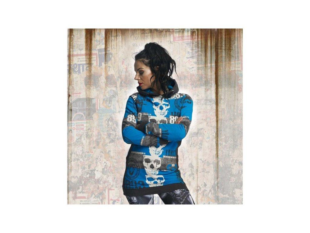 Yakuza REEL FLEX dámska dlhá mikina GHOB 11107 dark shadow