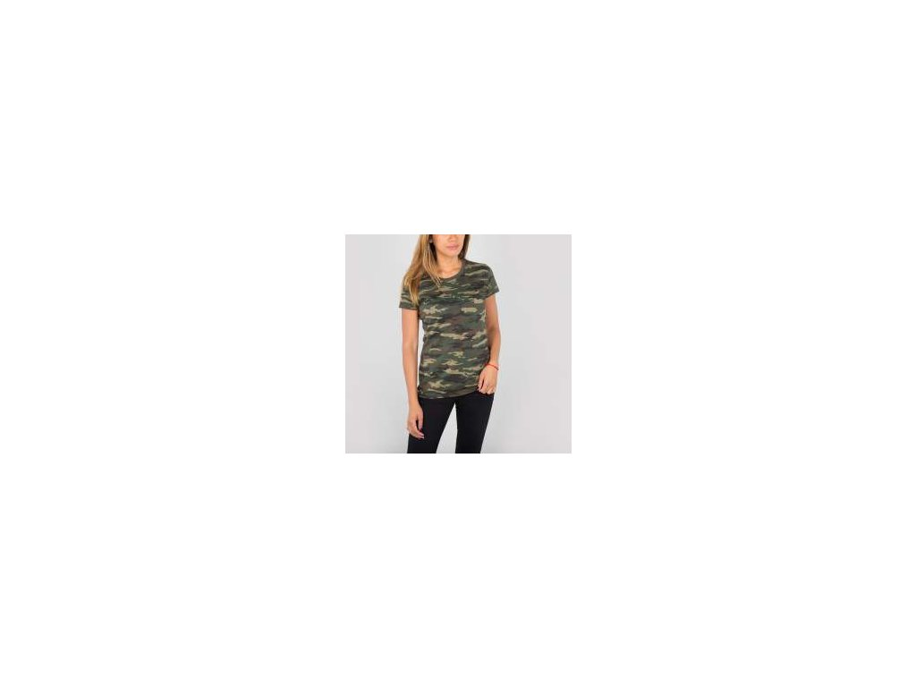 Alpha Industries Basic T Wmn camouflage 65 tričko dámske