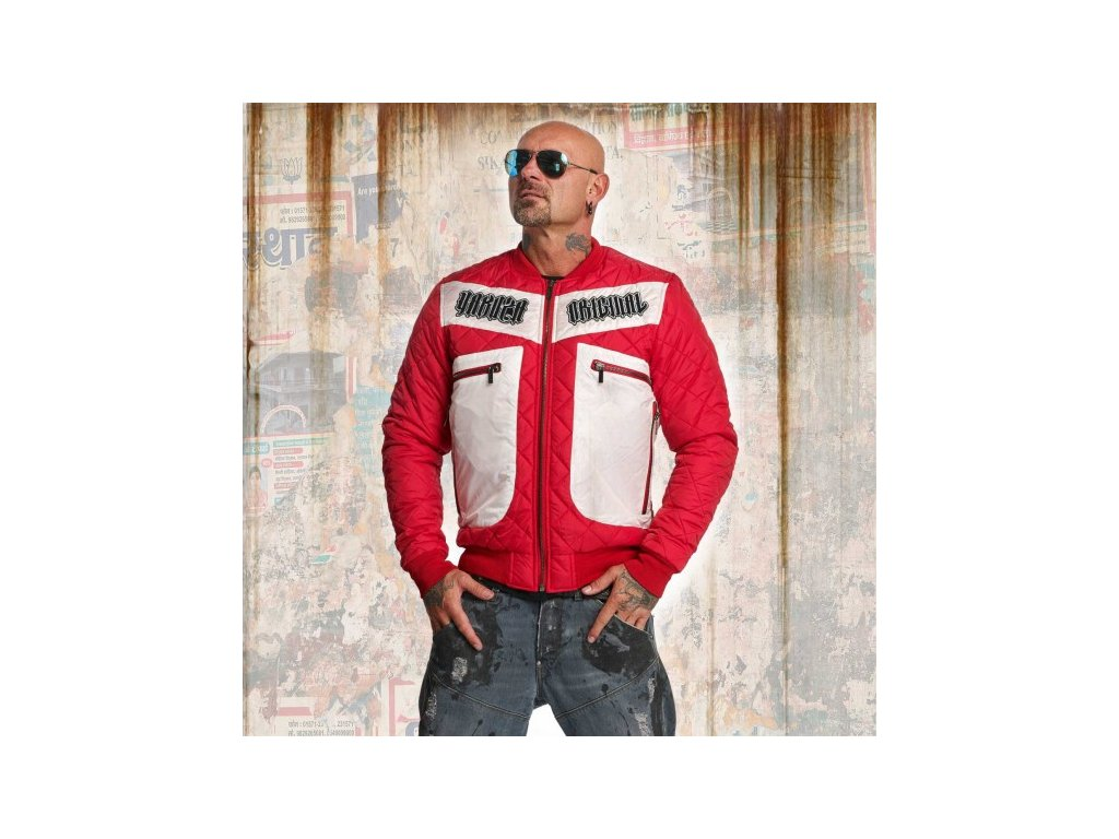 Yakuza bunda AUTHENTIC DIAMONT JACKET JB 11024 Ribbon red