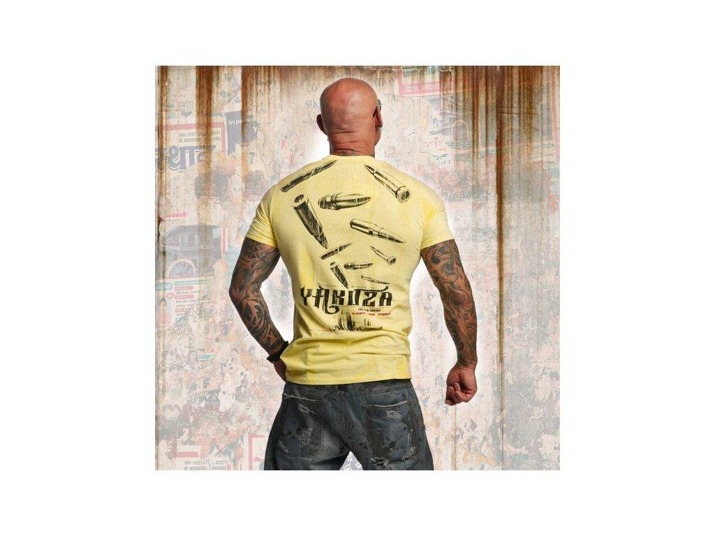 Yakuza tričko pánske BULLETS TSB 11036 pale banana