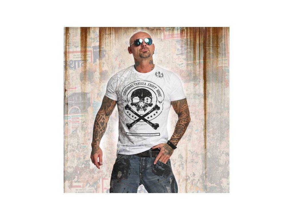Yakuza tričko pánske THORNS TSB 11044white