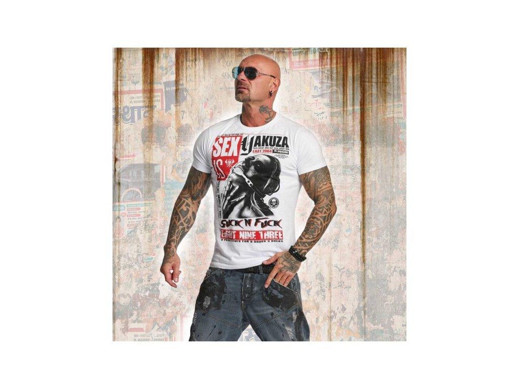 Yakuza tričko pánske SICK N FXCK TSB 11047 white