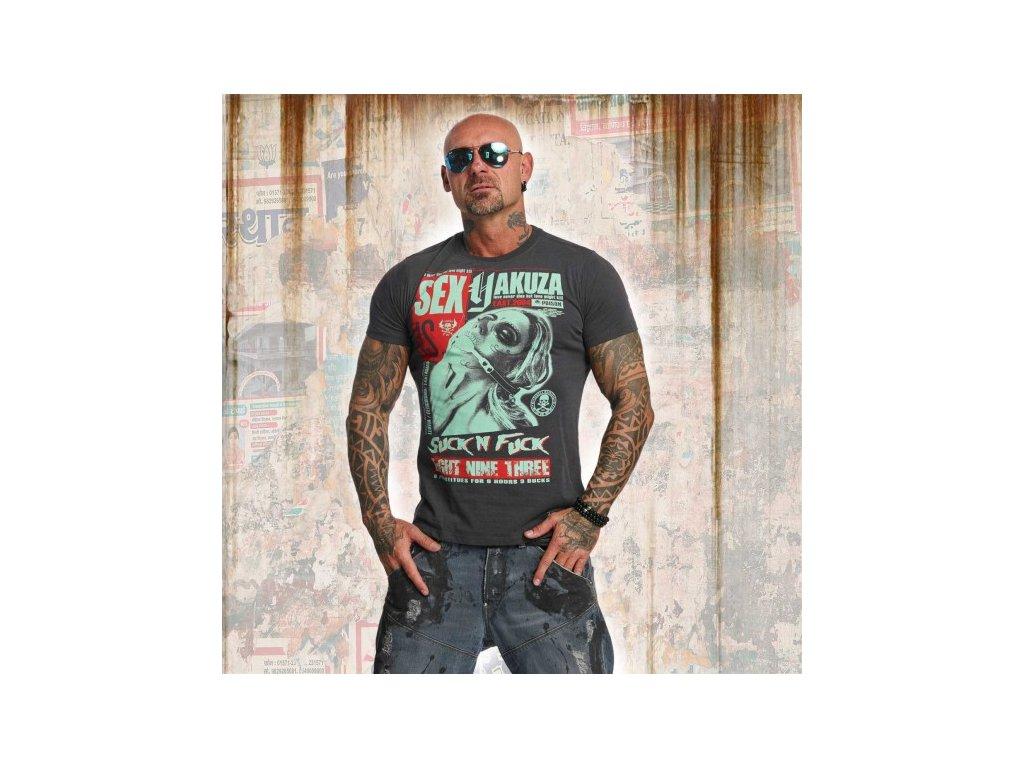 Yakuza tričko pánske SICK N FXCK TSB 11047 ebony
