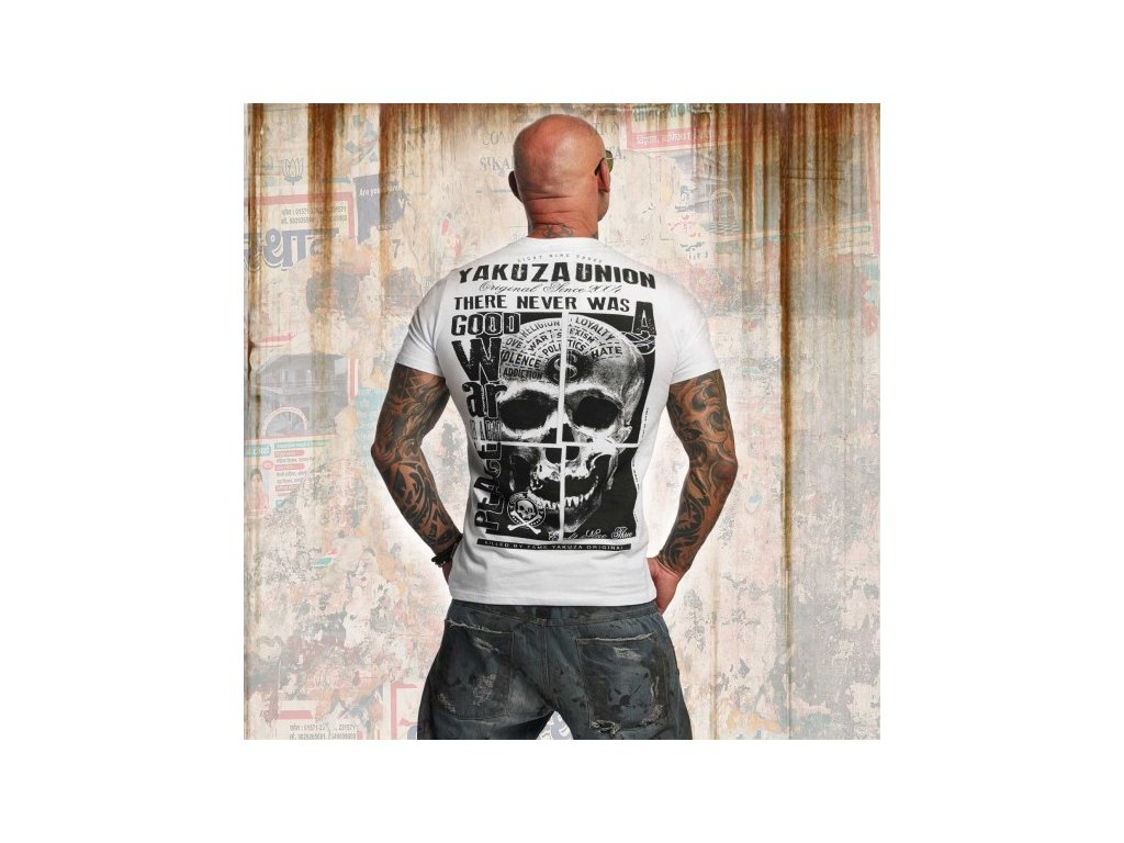 Yakuza tričko pánske UNION TSB 11041 white