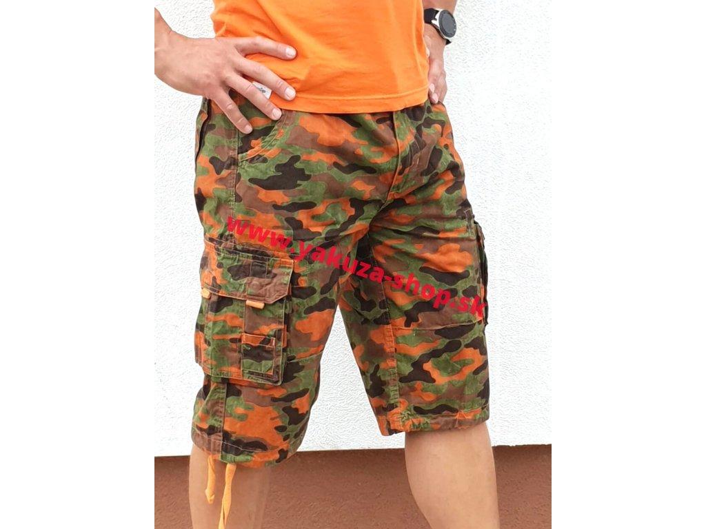 Alpha IndustriesAlpha Industries Jet Short Orange camo pánske šortky