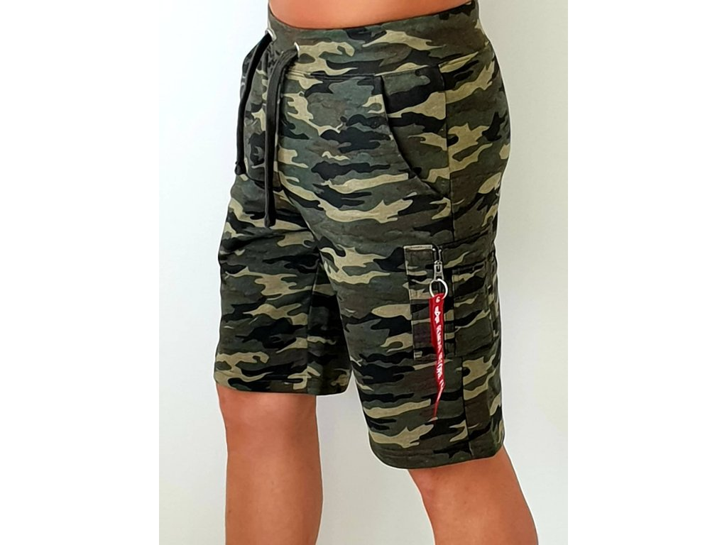 Alpha Industries X-Fit Cargo Short Woodl Camo pánske šortky
