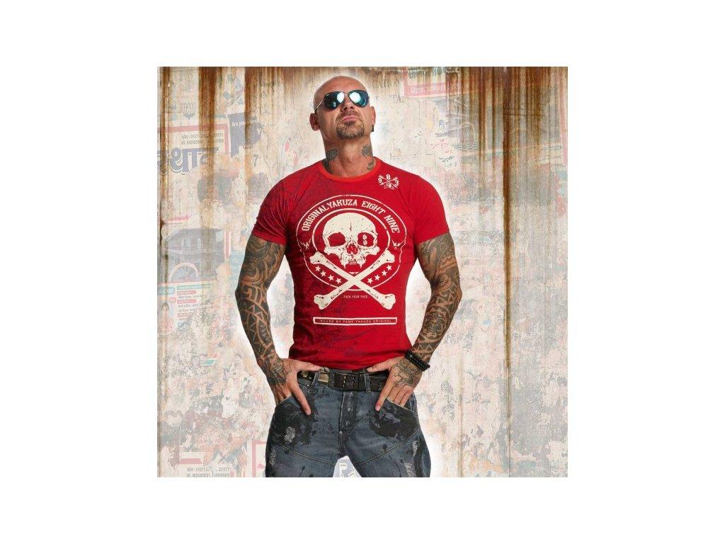 Yakuza tričko pánske THORNS TSB 11044 ribbon red