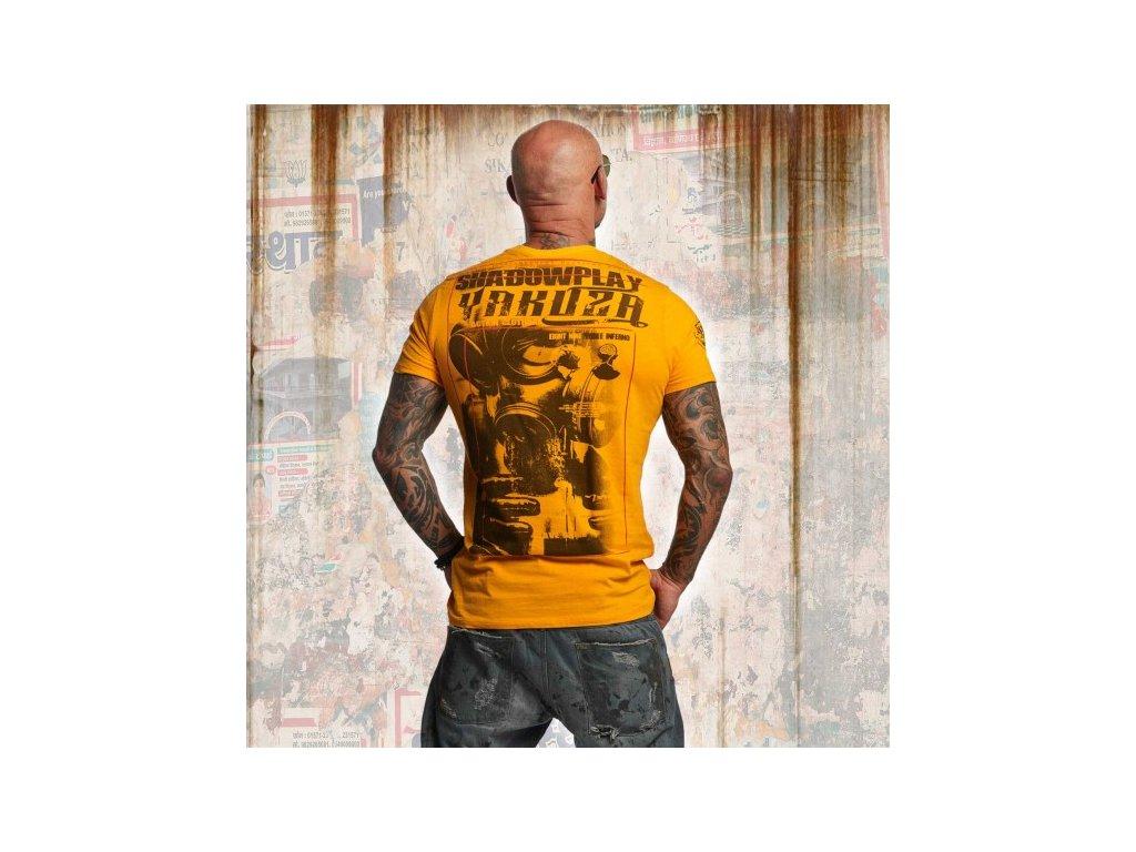 Yakuza tričko pánske SHADOWPLAY TSB 11032 bright marigold