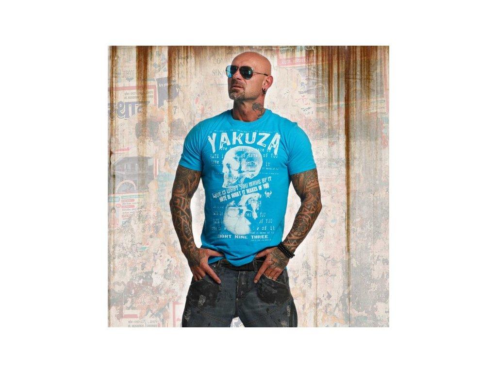Yakuza tričko pánske LOVE HATE TSB 11039 algiers blue