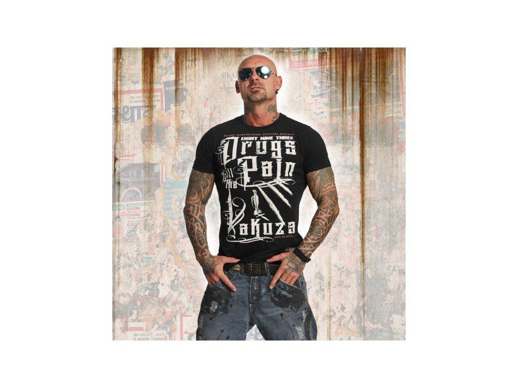 Yakuza tričko pánske DRUGS TSB 11042 black