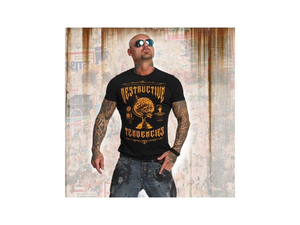 Yakuza tričko pánske DESTRUCTIVE TENDENCIES TSB 11043 black
