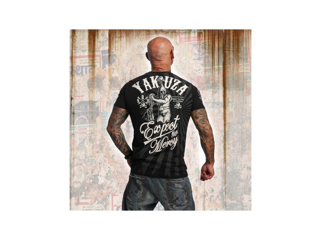 Yakuza tričko pánske EXPECT NO MERCI TSB 11031 black
