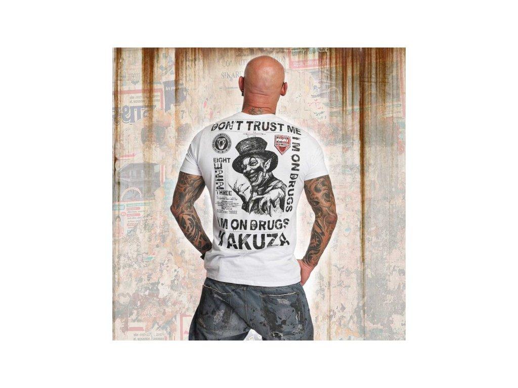 Yakuza tričko pánske DON´T TRUST ME TSB 11049 white
