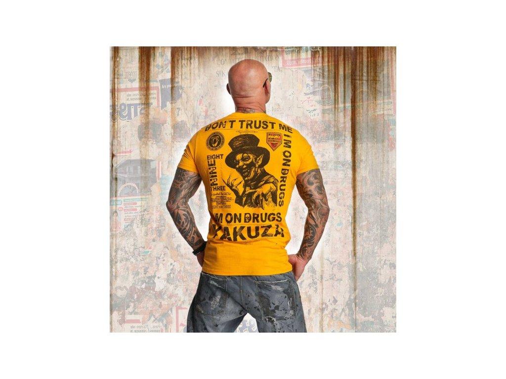 Yakuza tričko pánske DON´T TRUST ME TSB 11049 bright marigold