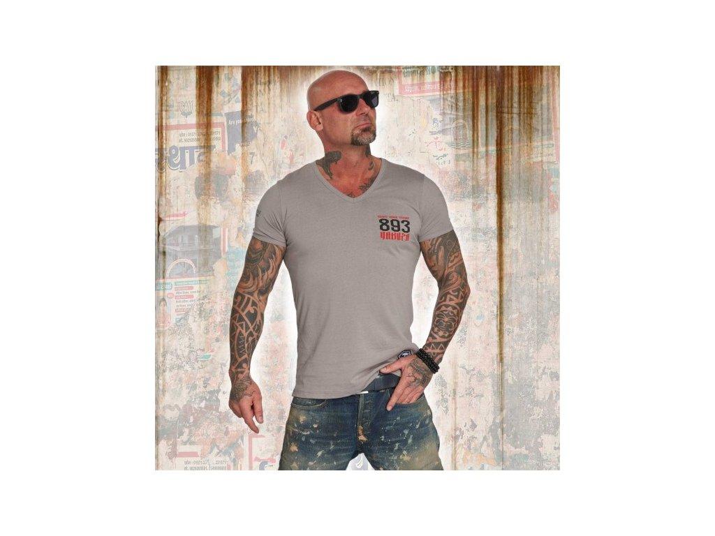 Yakuza tričko pánske DAILY V NECK TSB 12060 cloudburst
