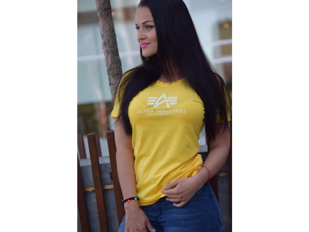 Alpha Industries Logo T Wmn tričko dámske prime yellow