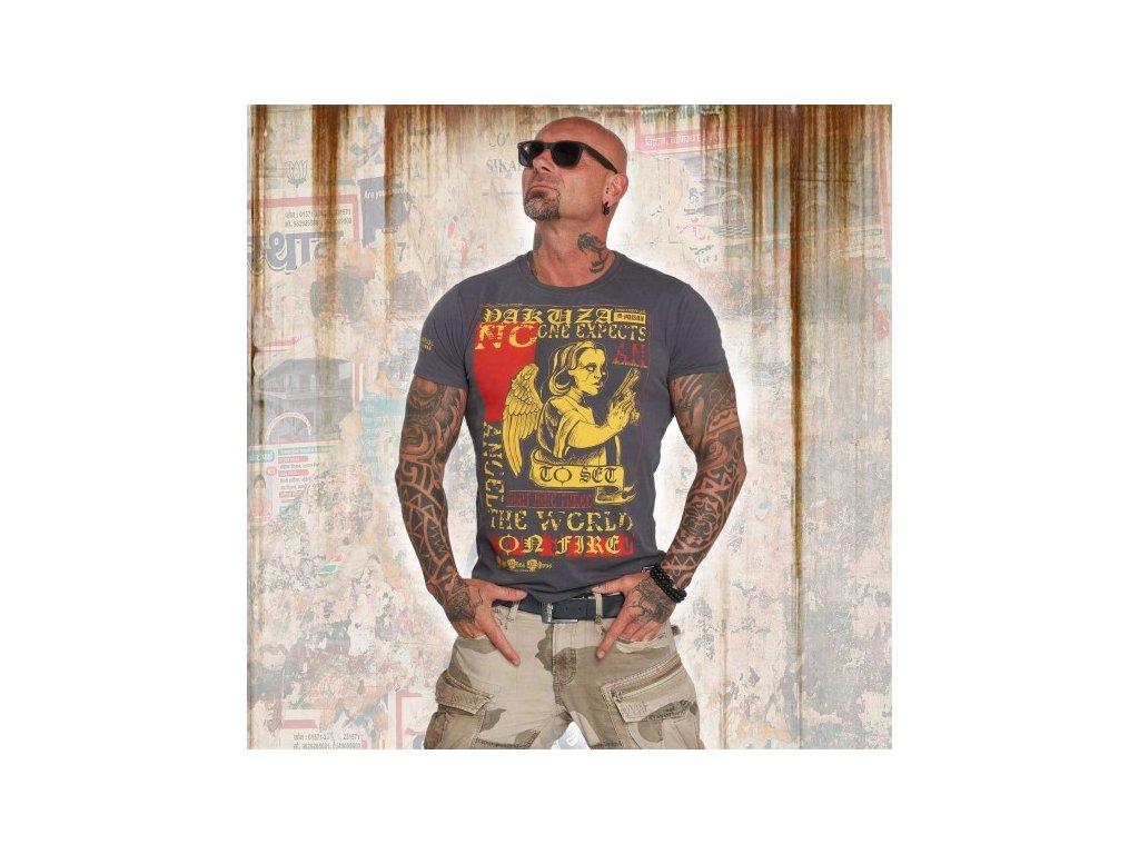 Yakuza tričko pánske NO ONE TSB 12001 ebony