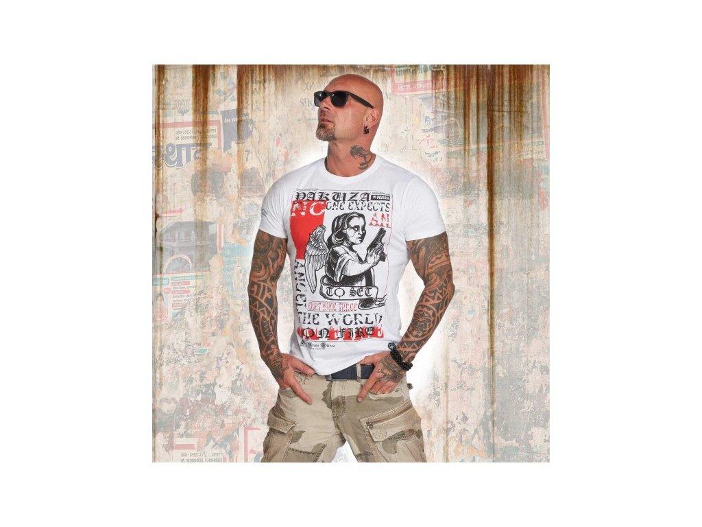 Yakuza tričko pánske NO ONE TSB 12001 white