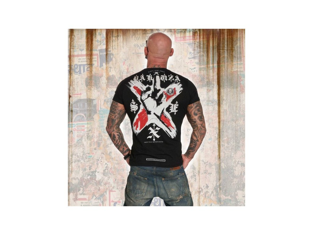 Yakuza tričko pánske WORLD PEACE TSB 12011 black