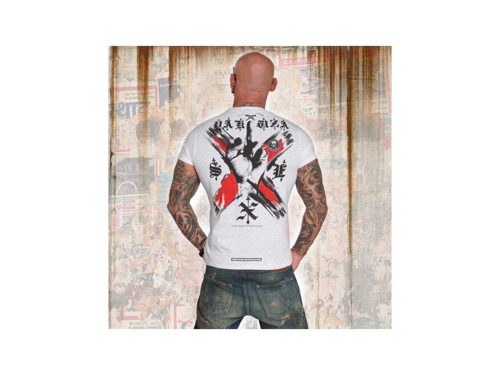Yakuza tričko pánske WORLD PEACE TSB 12011 white