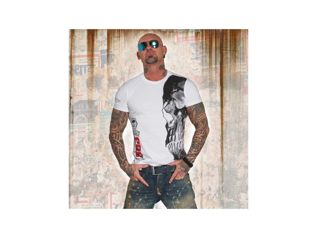 Yakuza tričko pánske SKULL TSB 12015white