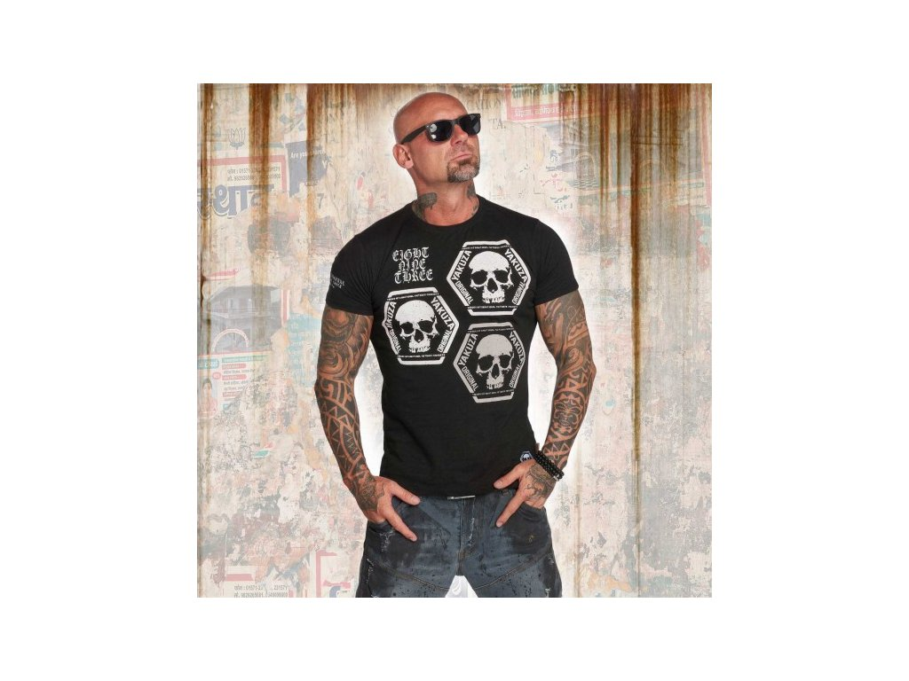 Yakuza tričko pánske SKULL COLLECTION TSB 12022 black
