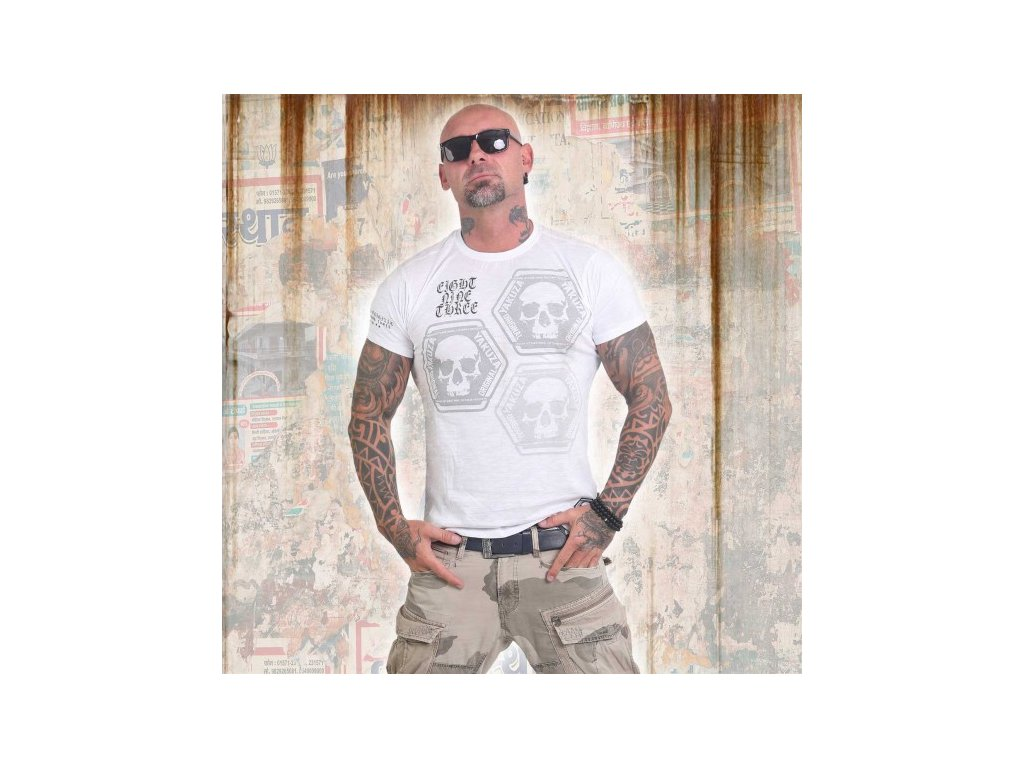 Yakuza tričko pánske SKULL COLLECTION TSB 12022 white