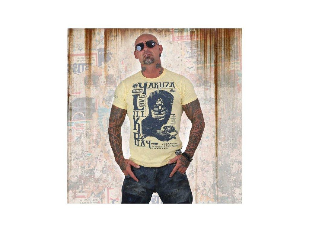Yakuza tričko pánske LOVE KILL PRAY TSB 12003pale banana