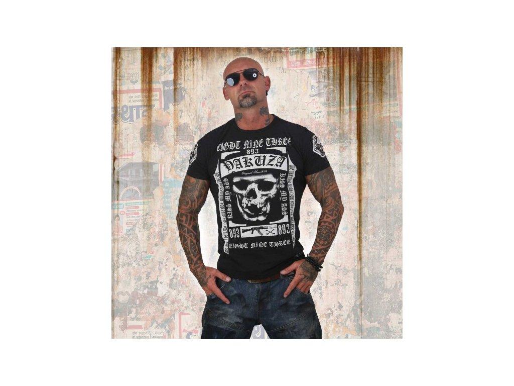 Yakuza tričko pánske KISS MY XXX TWO FACE TSB 12007 black