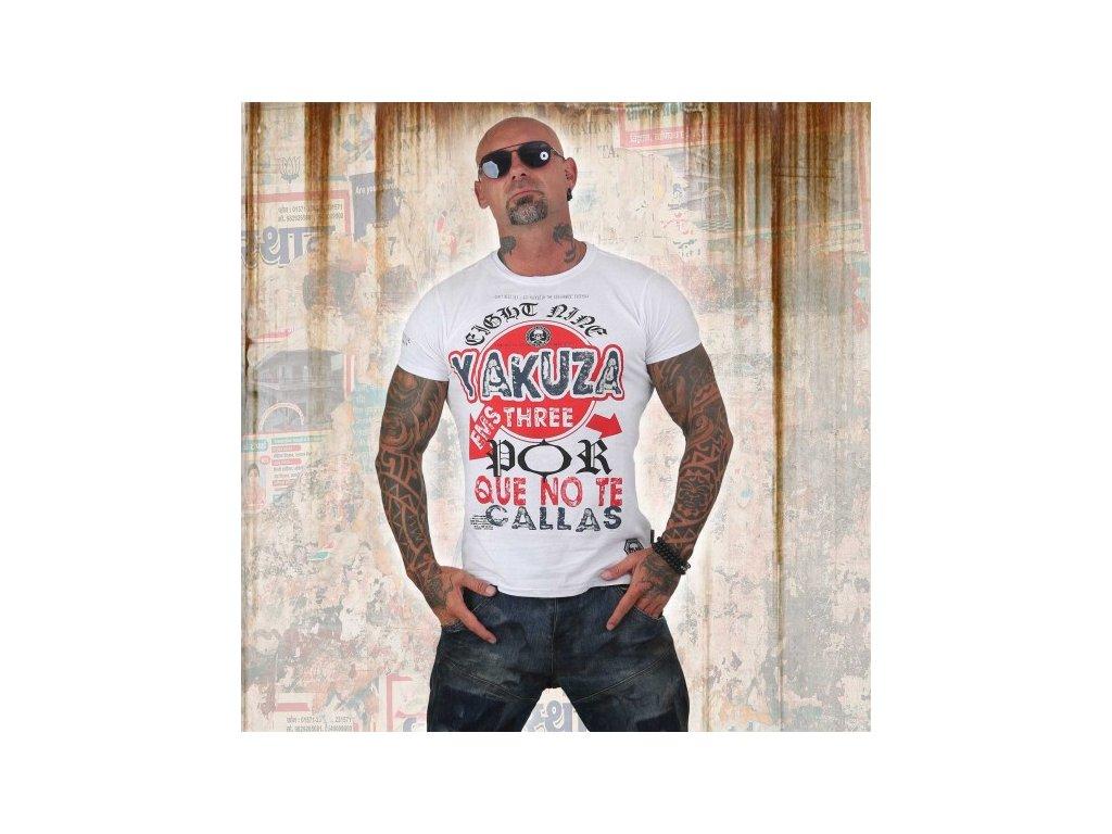 Yakuza tričko pánske POR QUE NO TSB 12010 white