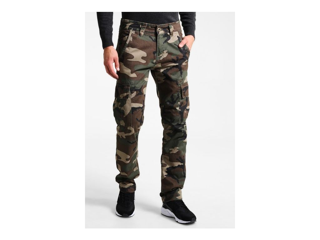 Alpha Industries nohavice AGENT C woodl camo