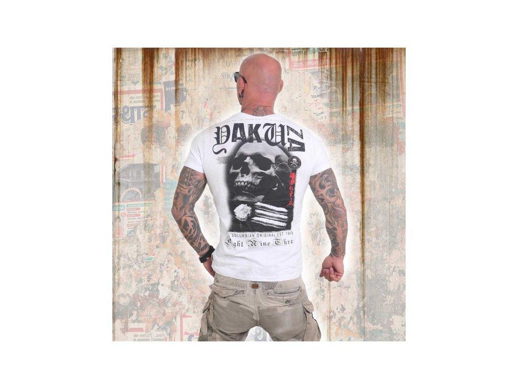Yakuza tričko pánske COLUMBIAN ORIGINAL TSB 12081 white