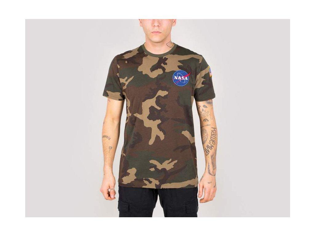Alpha Industries Space Shuttle T woodl camo 65 tričko pánske