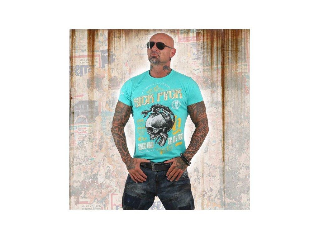 Yakuza tričko pánske UNDER MY BED TSB 12006 turquoise